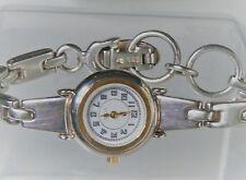 "Ecclissi Designer 6 1/2 - 7"" Sterling Silver Ladies Link Watch"
