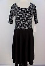M - Medium LuLaRoe Noir & Blanc Nicole Dress Cute White Black NWT 16