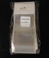 "100 Clear Hanging 2""x 3"" OPP Bags Jewelry Craft Merchandise Resealable Bottom"
