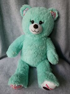"""Build a Bear Thin Mints With Green Plush Bear Girl Scout Cookies 16"""" Tall"""