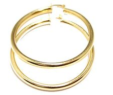 Round 2 inch  Hoops 18K Gold Plated Hoops - Shinny Hoop Earrings 4mm Width