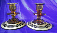 Vintage Cambridge Glass Candle Holders