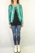 SHEIKE Mint Knitted Printed Cardigan Size L 10-14