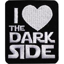 Star Wars I Heart the Dark Side Embroidered Iron On Patch - Disney Movie 127-O
