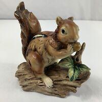 "Vintage Norleans Japan Squirrel On Branch With Aaron Ceramic Figurine 5.5"""