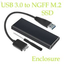 USB 3.0 to NGFF M.2 External SSD Drive Enclosure Case Caddy Adapter Converter