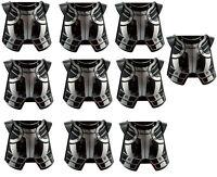 Lego 10 Stück schwarze Brustpanzer Aufdruck in silber Rüstung 2587pb27 Neu