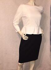 *New* Talbots White Black Long Sleeve Dress Size 6