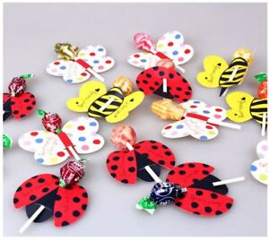 Kids Birthday Party Bag Fillers Loot Gift Decoration Bug Lollipops Decoration