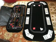"8 Players Poker Black Jack Casino Game Table Layout Folding & Bag 88""x33""x 0,75"""