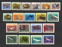 CANADA 1988-1993 #1155 etc, complete set of 19 Animals, Wildlife Mint NH