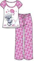 Ladies 100% cotton official long leg Disney pyjamas nightwear in two prints