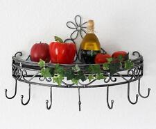 Mensola 09919 console muro 50 cm da cucina in metallo appendi Pentole SPEZIE