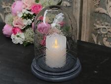 Chic Antique Glasglocke mit Platte Dom Glashaube klein Shabby Vintage Brocante