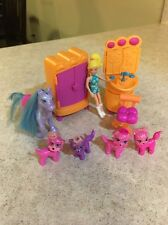 2006 Polly Pocket Totally Trendy Pets Paw Spa Glitter Animals