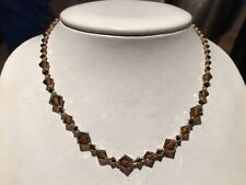 """16' TO 18"""" CITRINE CRYSTAL COLLECTION NECKLACE MADE WITH SWAROVSKI CRYSTALS"""