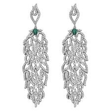 Sterling Silver Dangle Drop Chandelier Earrings with AAA quality CZ