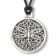 "NEW Celtic Wisdom Dragonfly Pendant 1.25""  Pewter by Deva Designs US Made!"