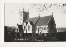 St Martins Church Bladon Oxon Vintage RP Postcard Packer 652a