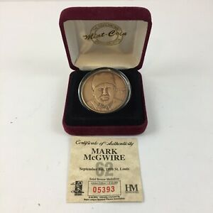 1998 Mark McGwire Highland Mint Solid Bronze Medallion Coin Limited Edition