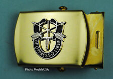 Special Forces ARMY Web Belt & Buckle - brass buckle & Blue belt - USA