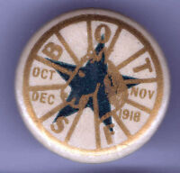 Early 1900s pin BOT pinback STAR + HORSE 's Head Board of Trade