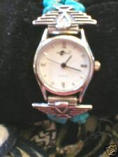 Phoenix Watch W/Turquoise Native American Silver