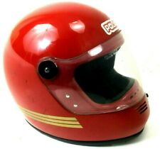 Vintage Polaris Helmet Full Face Red Gold Stripes 70s Snowmobile Car Motorcycle