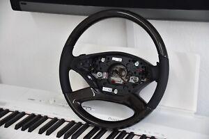Original Mercedes-Benz Wood Leather Steering Wheel S63 S65 AMG Ash Black W221