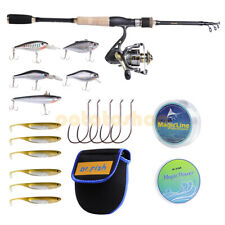 Spinning Rod & Reel Combo 9+1Bb Lures Line Hooks Saltwater Bass Trout Inshore