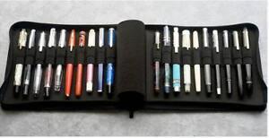 Kaco pen pouch pen case bag, Black Color, Business Style, 20 Pen Pockets