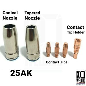 MB 25/25 AK | Nozzles/Contact Tips/Holders OEM For Binzel MIG Torch Parts Weldin