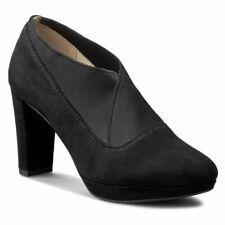 Clarks Kendra Mix Black Suede ladies shoes/heels sizes 2/34.5 - 3.5/36