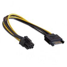 K26 SATA Strom Kabel Netzteil Adapter 15 Pol Stecker auf 6 Pin Grafikkarte PC