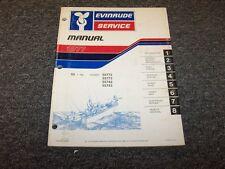 1977 Evinrude 55 HP Outboard Motor Shop Service Repair Manual Guide Book