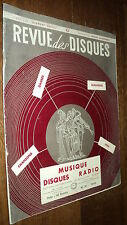 REVUE DES DISQUES 31 (CATALOGUE NOEL 1954) LOUIS ARMSTRONG DASSARY ANNIE CORDY