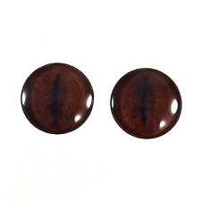 Pair of 25mm Brown Koala Glass Eyes for Jewelry or Taxidermy Doll Making
