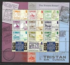 TRISTAN DA CUNHA SG1119/28 EUROPHILEX STAMP EXHIBITION STAMPS SHEETLET OF 10 MNH