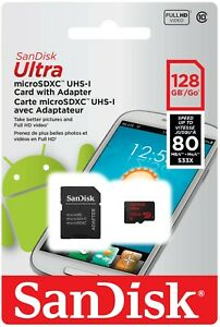 SanDisk 128GB 128G Ultra Micro SD HC Class10 TF Flash Memory Card mobile adapter