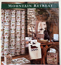 Vintage Mountain Retreat BACOVA Shower Curtain 100% Cotton, Lodge Theme, NEW