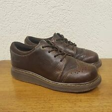 Women's DOC DR MARTENS Brown Leather Lace Up Brogue Wingtip Oxford Shoe - Size 6