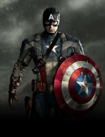 Captain America Canvas Giclee Print Picture Unframed Home Decor Wall Art