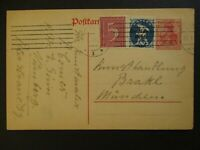 1922 Munich Germany Advertising Inflation Overprint Postcard Cover