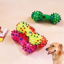 1pcs molle en caoutchouc os Squeaky jouets chien mâcher jouet coloré