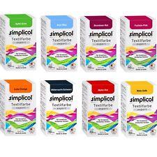 SIMPLICOL Textilfarbe EXPERT 150g versch. Farben & Fixierer auch für Wolle Seide