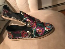 Fabiolas Embroidered Floral Espadrilles Shoes Women's Size 9 USA 40 Europe
