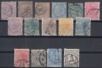 F3184/ NEW ZEALAND – VICTORIA – 1874 / 1897 USED CLASSIC LOT – CV 395 $