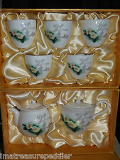 TenRen Ten Ren Floral Chinese Tea Set Cups Teapot Pitcher in Presentation Boxes