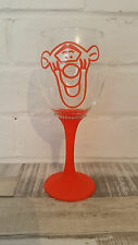 Tigger winnie the pooh wine glass any colour glitter personalise birthday