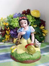Disney Snow White with bluebird Turtle Music box